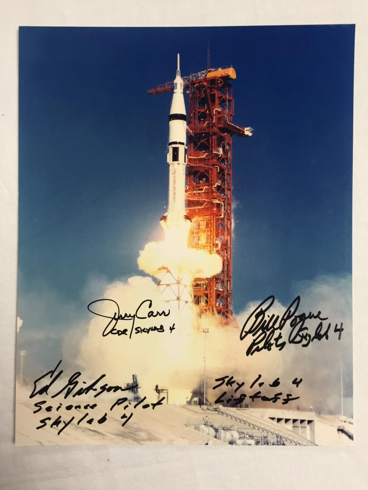 Ed Gibson's Skylab 3 Crew signed items