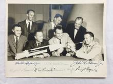 Mercury 7 Signed Photo