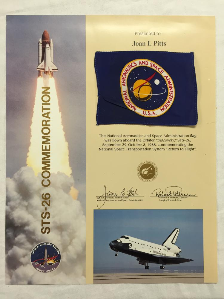 STS-26 Flown Flag