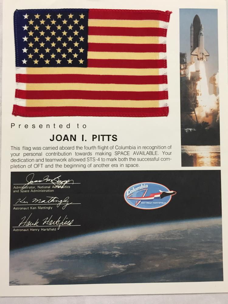 STS-4 Flown Flag