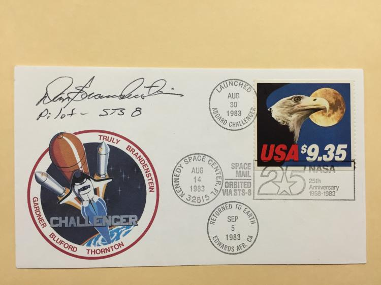 Flown and Signed STS-8 Cover