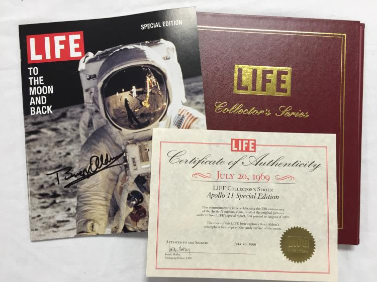Apollo 11 Signed Life Magazine
