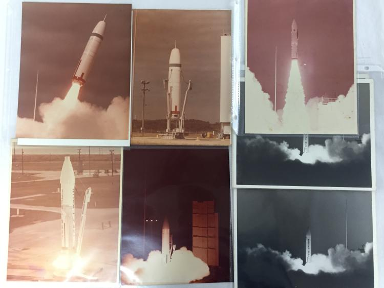 Unmanned early rocket photographs and items