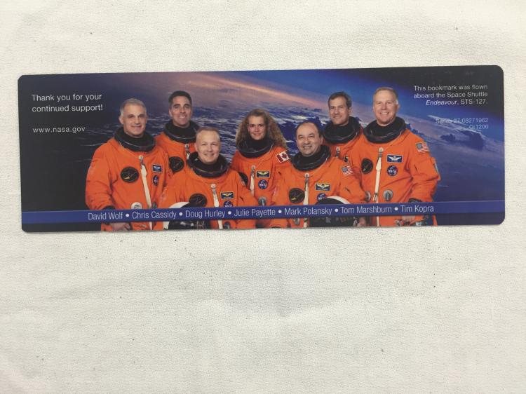 STS-127 Flown Bookmark
