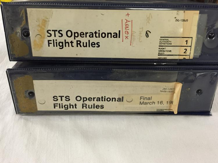 STS Operational Flight Rules 2 Binders
