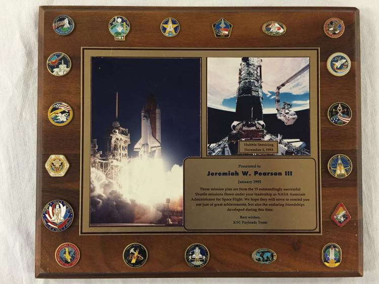 General Jeremiah Pearson Retirement Mission Plaque