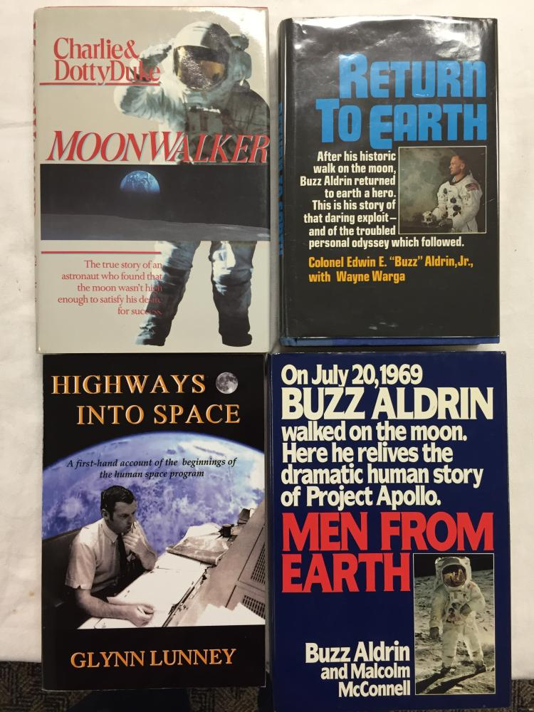 Collection of 4 Signed Space Books
