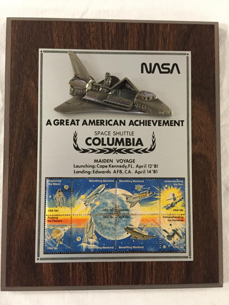 Columbia Maiden Voyage Wooden Plaque