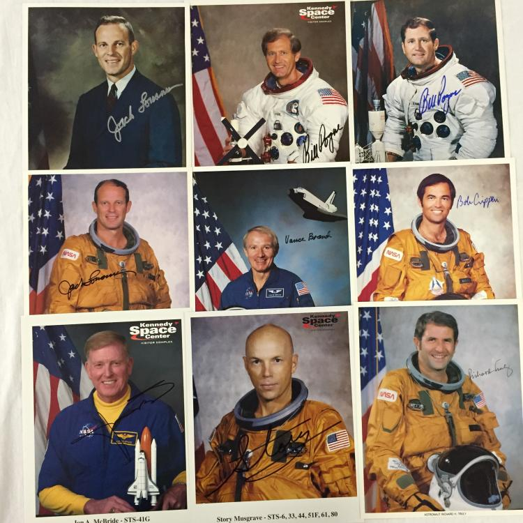 Autographed Apollo and Shuttle Photos