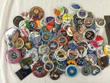 Over 100 different Space pinbacks or buttons from all sectors of space flight