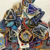 Over 175 different space cloth patches for manned spaceflight