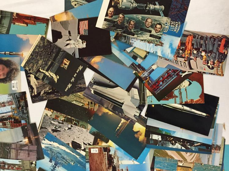 Over 100 original different Space Postcards produced during the 1950-80s