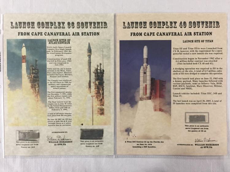 A pair of early launch complex pad artifacts from 2 unmanned complex areas