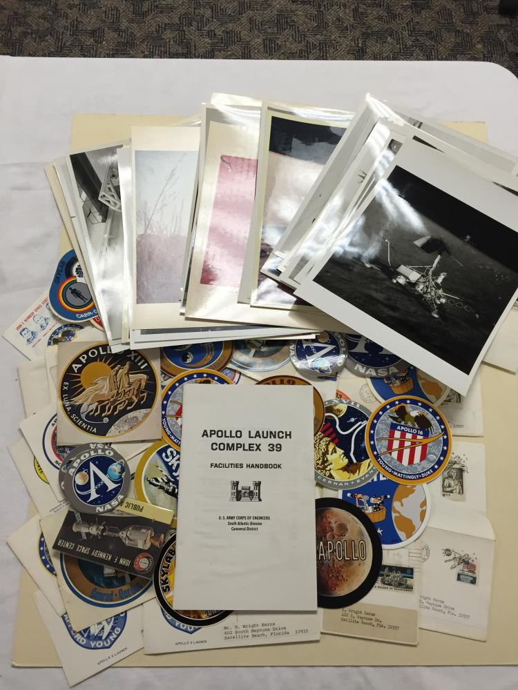 More than 30 Photos Apollo Era plus 30+,  Event Covers, Pins, and lots of Decals (over 30)