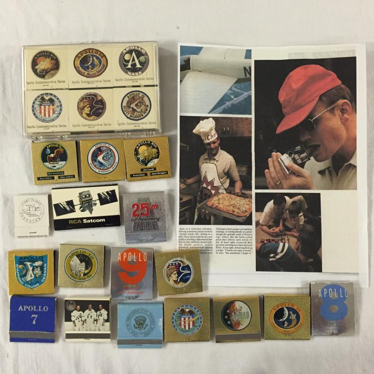 A vintage Apollo matchbook collection
