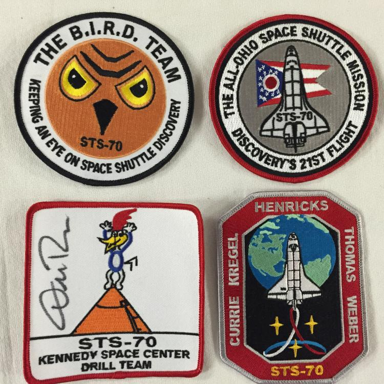 Four (4) rare astronaut-shuttle related patches