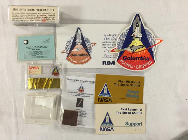 STS-1/Columbia: Several items from the shuttle's maiden flight