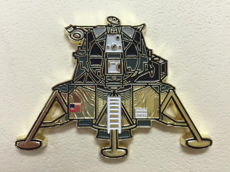 Lunar Lander Paperweight Signed by Walt Cunningham Apollo 7 LMP