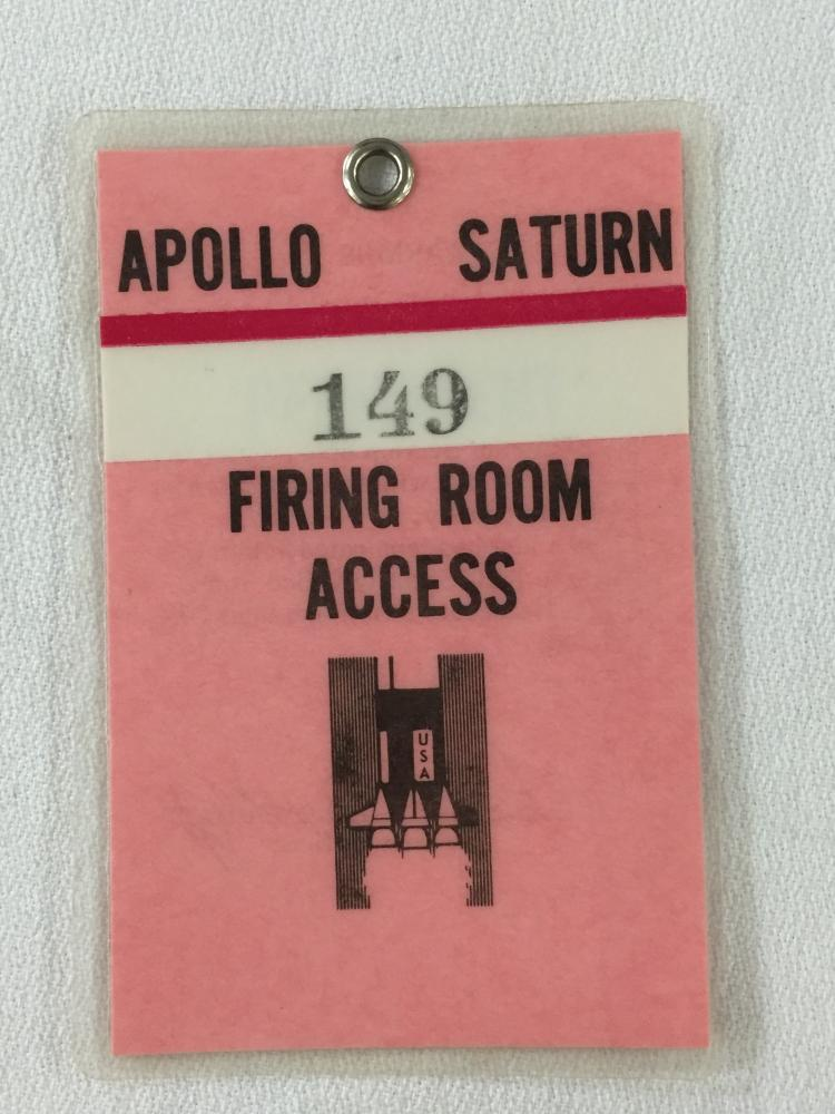 Apollo / Saturn Firing Room Access Badge