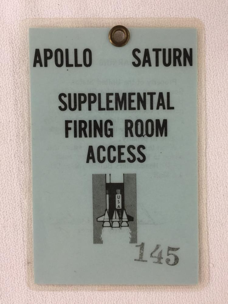 Apollo  / Saturn Firing Supplemental Firing Room Badge