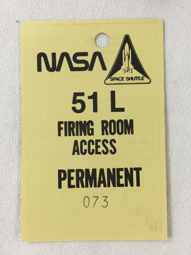 STS-51-L Firing Room Badge