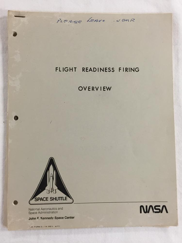 STS Flight Readiness Firing Overview Book