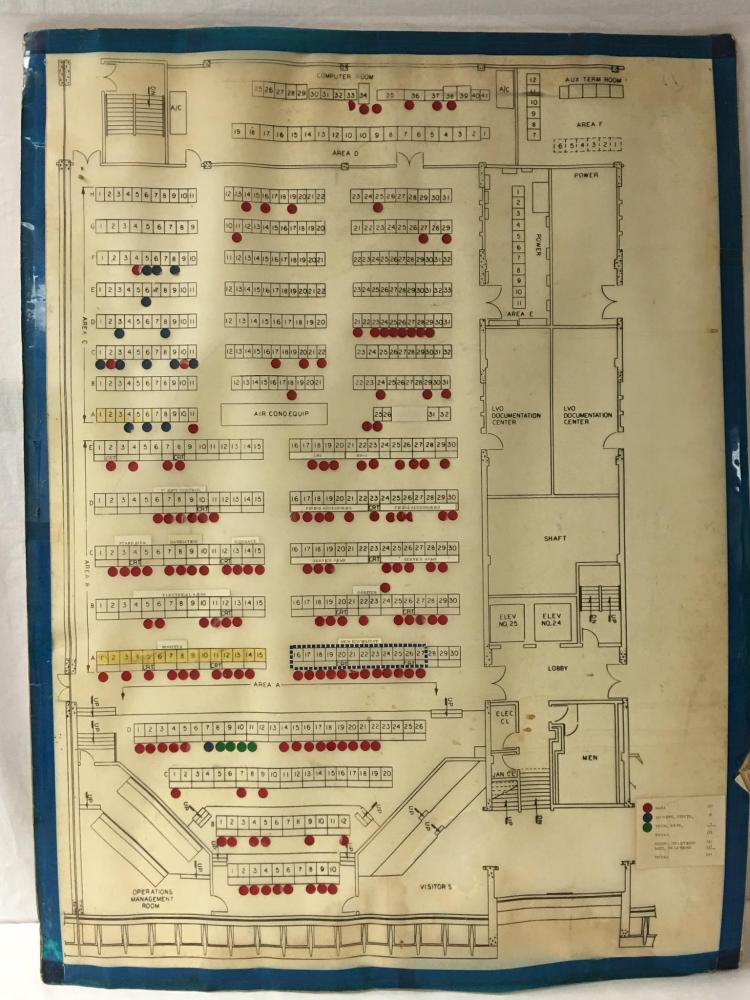 LCC Firing Room Layout Orentation Board for Apollo 11