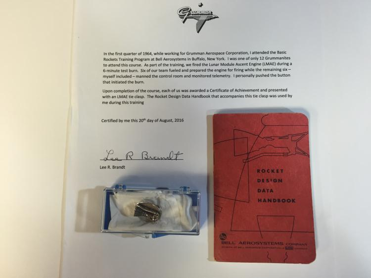 Grumman lunar module assent engine tie clip