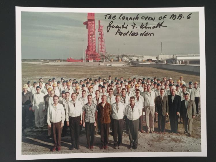 MA-6 Photograph signed by Guenter Wendt