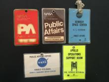 Apollo Operations Support and public affairs Badges