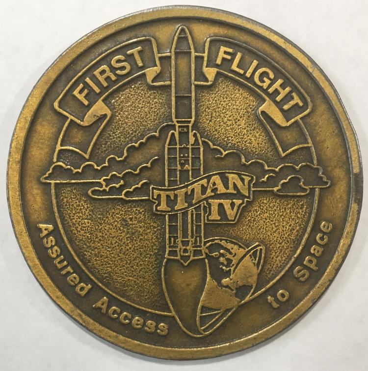 Titan IV First flight coin, Assured Access to Space