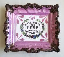 Sunderland Lustre Marine Plaque: Mate Sound the Pump, Morning Noon & Night