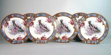 Antique English Earthenware Plates Decorated with Fish.