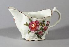 Antique Lowestoft Porcelain Chelsea Ewer-form Cream Boat