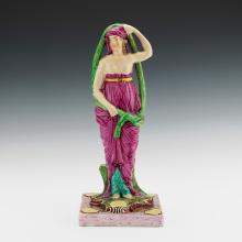 Large English Neoclassical Pearlware Theatrical Figure of Ophelia, Circa 1820-25.
