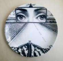 Fornasetti Tema E Variazoini Plate, Pattern Number 321