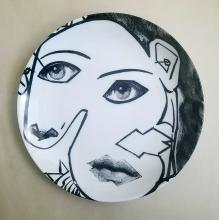 Fornasetti Tema E Variazoini Plate, Pattern Number 164