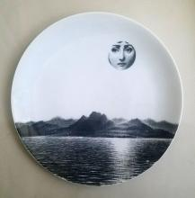 Piero Fornasetti Tema E Variazoini Plate, Themes and Variations, Pattern Number 85
