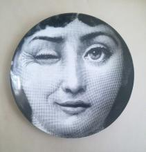 Fornasetti Tema E Variazoini Plate, Pattern Number 130