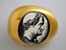 Vintage Piero Fornasetti Porcelain Roman Bust Paperweight