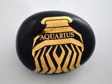 Vintage Piero Fornasetti Porcelain Aquarius Zodiac paperweight