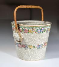 Maling Pottery Pail & Cover, Cetem Ware.
