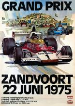 Poster by Michael Turner - Grand Prix Zandvoort