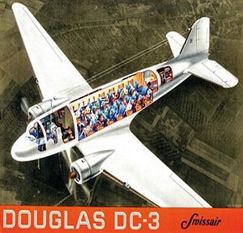 Walther Jean (1910-?) Swissair Douglas DC 3