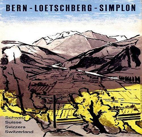 Surbek Victor (1885-1975) Bern-Loetschberg-Simplon