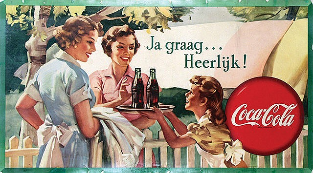 Poster by Frederic Stanley - Coca-Cola Ja graag? Heerlijk!