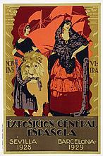 Poster by Francisco Hohenleiter y Castro - Exposicion General Espanola Sevilla Barcelona