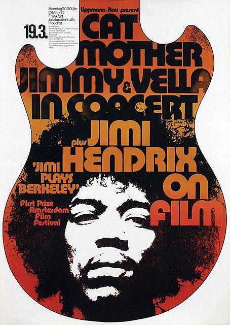 Poster by Günther Kieser - Jimi Hendrix on film