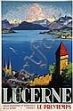 Poster by Otto Landolt - Lucerne, Otto Landolt, Click for value