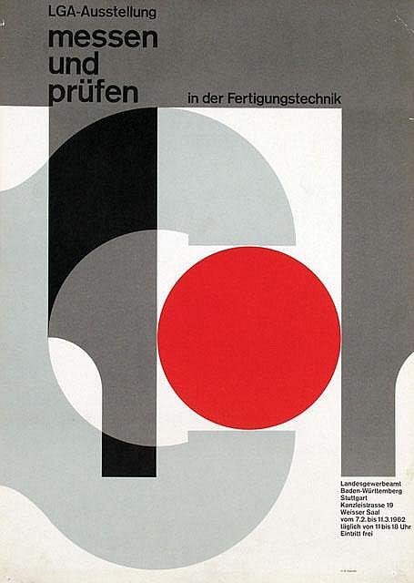 Posters (4) by Herbert W. Kapitzki - LGA-Ausstellung Stuttgart messen und prüfen